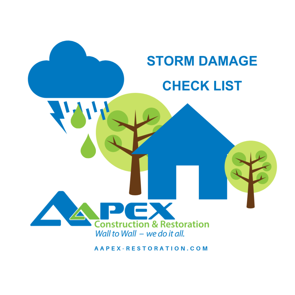 Storm Damage Check List