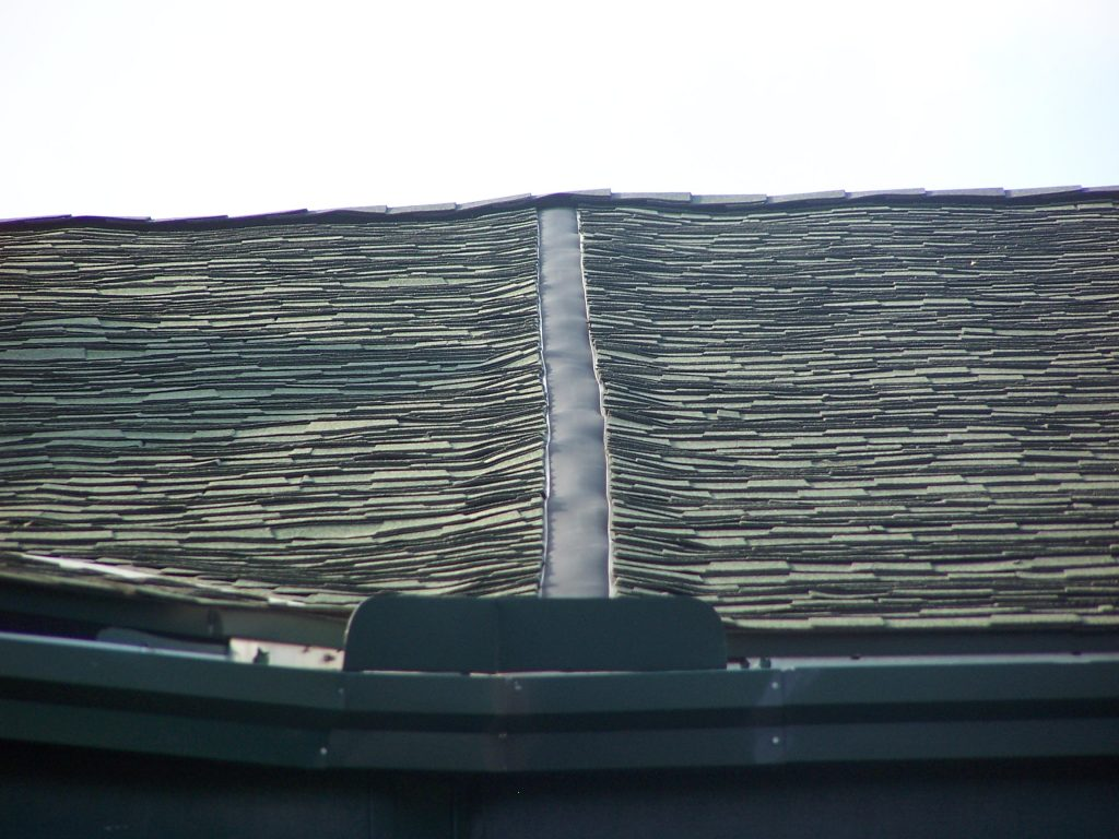 Damaged roof picture from a roofing inspection