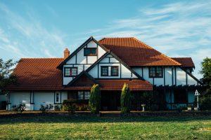Tudor Style House with Classic Exterior Paint Choices