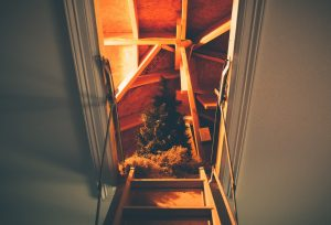Christmas Tree stored in attic